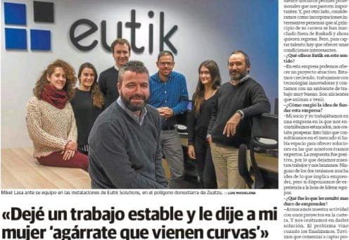 Entrevista a Mikel Lasa en el Diario Vasco